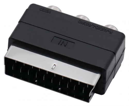 SCART plug (IN) - 3RCA (OUT), 20 pin